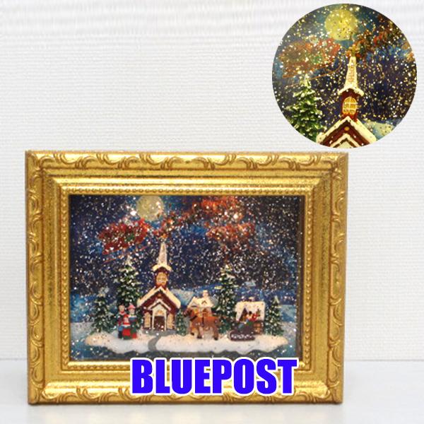 【歳末セール】【クリスマス】[HM-8137・ゴールド]ホリデーリキッドLEDフレームグリッターが舞う、幻想的なオブジェ。クリスマス 雑貨 グッズ※沖縄・北海道・離島・海外不可