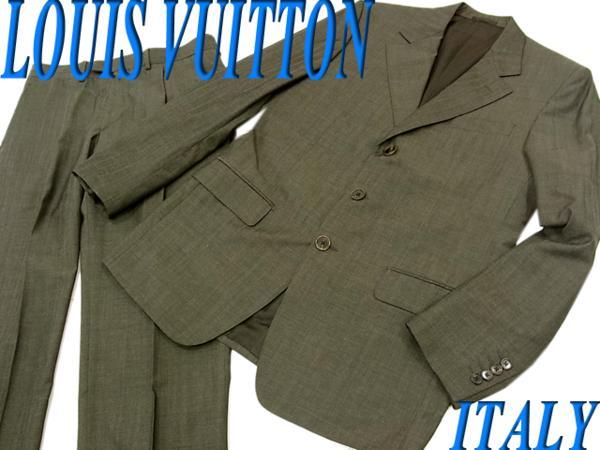 (Size:44 シングルスーツ LOUIS VUITTON ブラック 高級ライン イタリア製 ◇美品◇ルイヴィトン◇タキシード 美ライン 【中古】