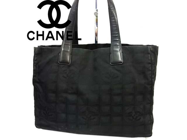 【中古】●シャネル CHANEL ニュートラベルライントートバッグMM ショルダーバッグ イタリア製 黒ブラック