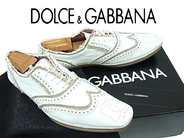 【中古】◇美品◇ドルチェ&ガッバーナ◇レザーシューズ  革靴  メンズ 人気モデル カットオフ DOLCE&GABBANA イタリア製