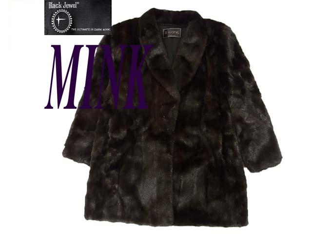 【中古】美品 最高級◇BlackJewel ◇ミンク毛皮コート