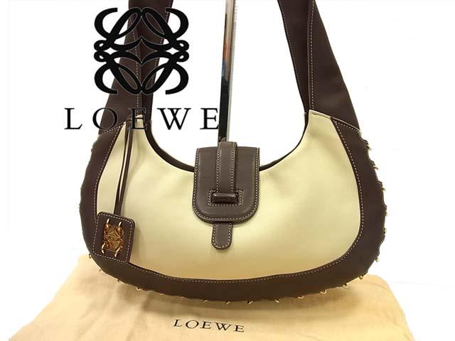 【中古】正規品 美品◇ロエベ LOEWE◇レザーショルダーバッグ(保存袋