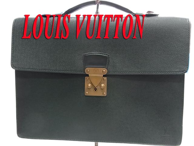 【中古】○ルイヴィトン タイガ モスコバ レザーブリーフバッグ ビジネスバッグ 男女兼用 メンズ レディース フランス製 LOUIS VUITTON 正規品