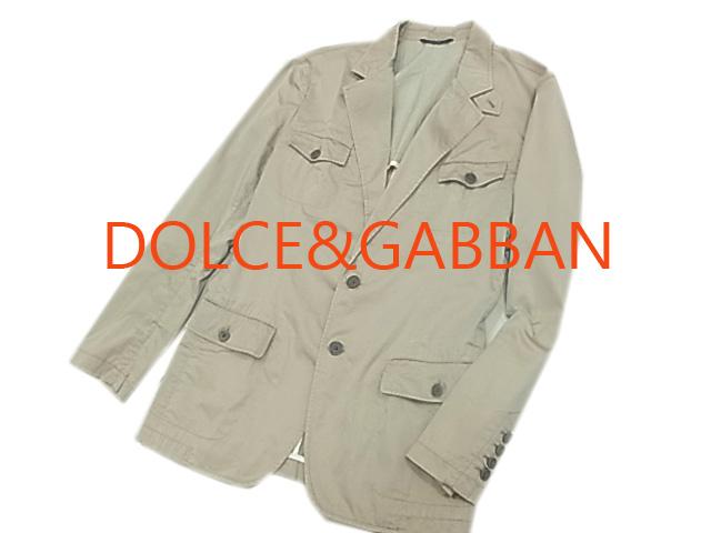 【中古】良品◇ドルチェ&ガッバーナ◇シルク混紡 デザインジャケット/テーラードジャケット 人気モデル DOLCE&GABBANA イタリア製