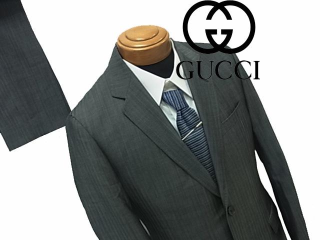 【中古】◇グッチ GUCCI◇シングルスーツ 上下 セットアップ パンツスーツ 美シルエット スイス製 人気モデル