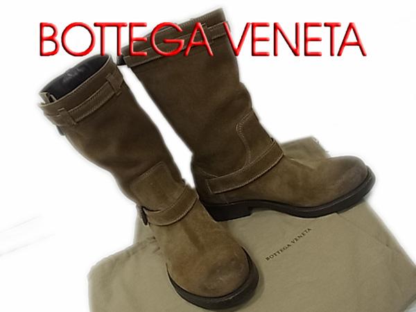 【中古】◇良品◇ボッテガヴェネタ◇レザーエンジニアブーツ メンズシューズ 本革 保存袋イタリア製 BOTTEGA VENETA