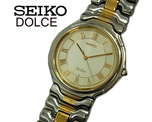 【中古】◇電池交換済◇セイコー ドルチェ◇腕時計 クオーツ コンビベルト 軽量 3針 5E31-6A20 人気モデル SEIKO DOLCE