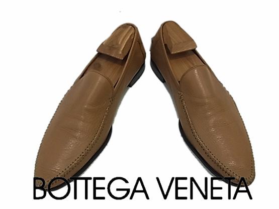 【中古】◇ボッテガヴェネタ◇レザーシューズ スリッポン ローファー メンズ 革靴 紳士靴 イタリア製 BOTTEGA VENETA 人気モデル
