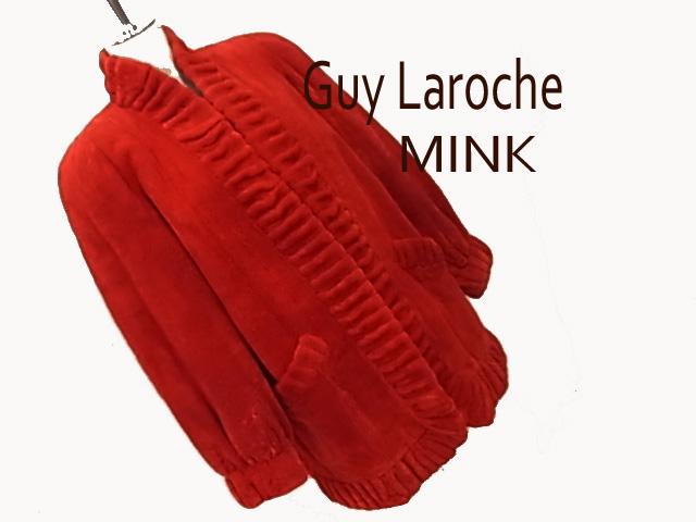 【中古】◇高級本毛皮 美品◇ギラロッシュ◇シェアードミンクコート フロントフリー レアカラー ゆったりライン Guy Laroche