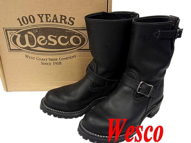 【未使用】○ウエスコ エンジニアブーツ レザーブーツ レア 100周年 カスタムボス ブラック 黒色 BK7709100 メンズ WESCO 未使用