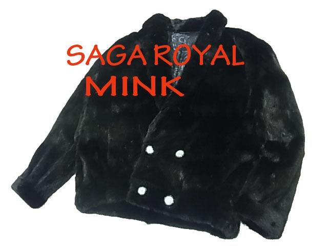 【中古】◇メンズ◇サガロイヤル SAGA ROYAL ミンクジャケット ブルゾン 最高級毛皮 ダブラックミンク