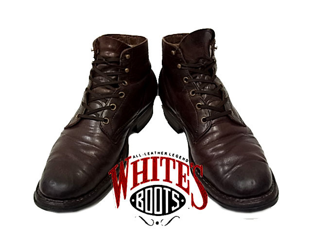 【中古】◇大きめサイズ◇ホワイツブーツ◇セミドレス レザーブーツ WHITE'S BOOT 激シブ 人気モデル ブラック メンズシューズ