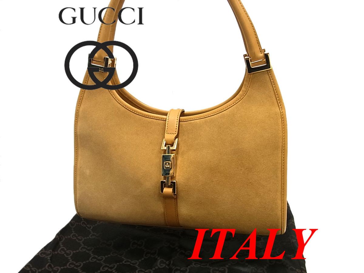 【中古】◎グッチ レザーハンドバッグ ジャッキーライン イタリア製 GUCCI レディース 鞄 高級