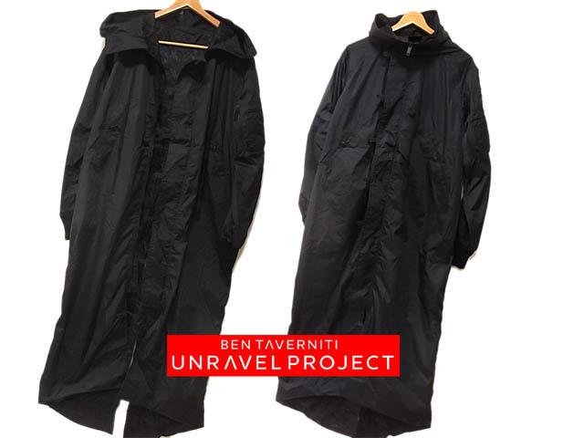 【中古】○ベンタバニティ アンレーベルプロジェクト デザインコート MA-1 モッズコート ブラック BEN TAVERNITI UNRAVEL PROJECT メンズ 春物