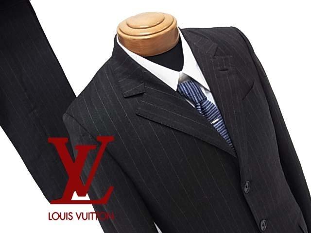【中古】◇ルイヴィトン◇高級シングルスーツ 上下  美ライン イタリア製 紳士服 人気モデル LOUIS VUITTON