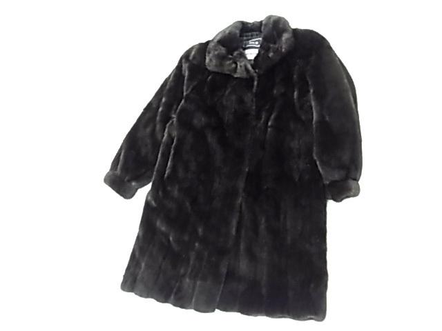 【中古】◇最高級◇ブラックグラマ◇ミンク毛皮セミロングコート ダークブラウン 毛艶 毛並 良好 BLACK GLAMA