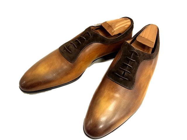 【未使用】○べルルッティ オックスフォード レザーシューズ ビジネスシューズ ドレスシューズ レースアップ 革靴 Berluti メンズ 未使用
