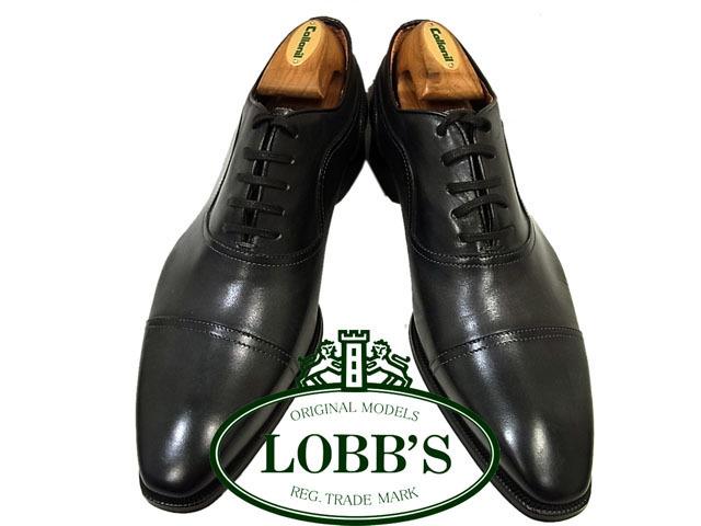 【未使用】◇ロブス LOBB'S◇ストレートチップスレザーシューズ ビジネス ブラック 紳士靴 革靴 イタリア製