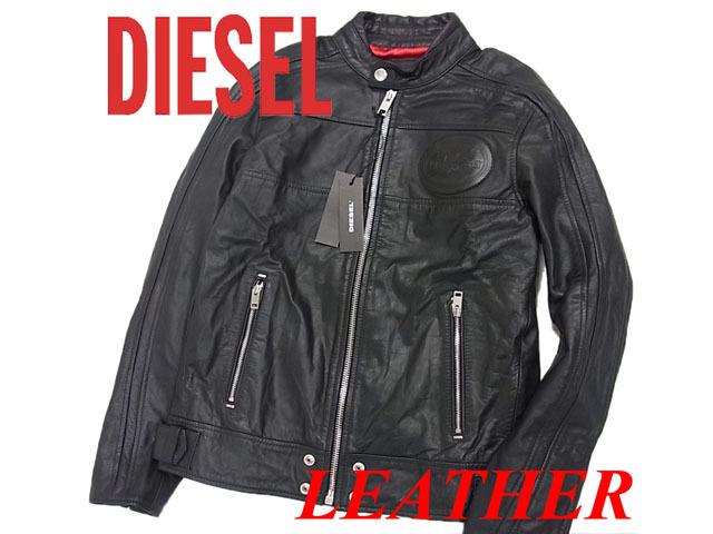 【未使用】◇タグ付◇ディーゼル◇カウハイド ライダースジャケット DIESEL 激シブ ブラック 牛革 メンズ 人気モデル