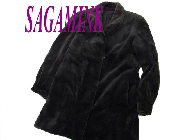 【中古】◇高級毛皮◇サガミンク シェアードミンクコート SAGA MINK レディース サイズフリー