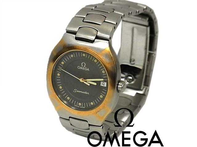 【中古】正規品◇オメガ Ωシーマスター ポラリス コンビ クオーツ 腕時計