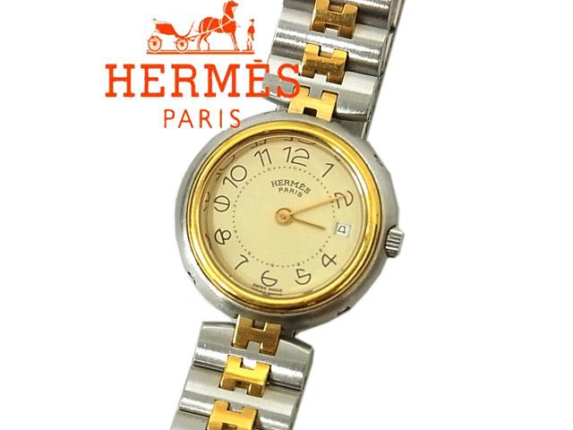 【中古】美品◇エルメス HERMES◇プロフィール腕時計