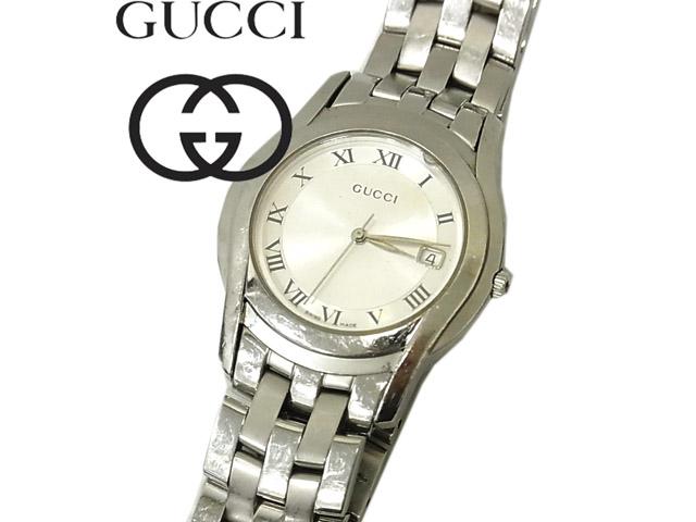 【中古】動作確認済◇グッチ GUCCI 5500M◇メンズクオーツ 腕時計 正規品