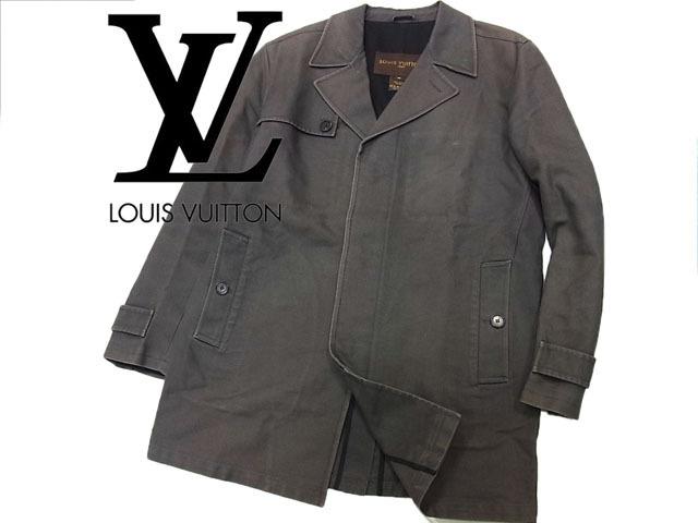 【中古】◇高級◇ルイヴィトン LOUIS VUITTON◇メンズ デザインコート ビジネス イタリア製 人気モデル メンズアウター (Size:46