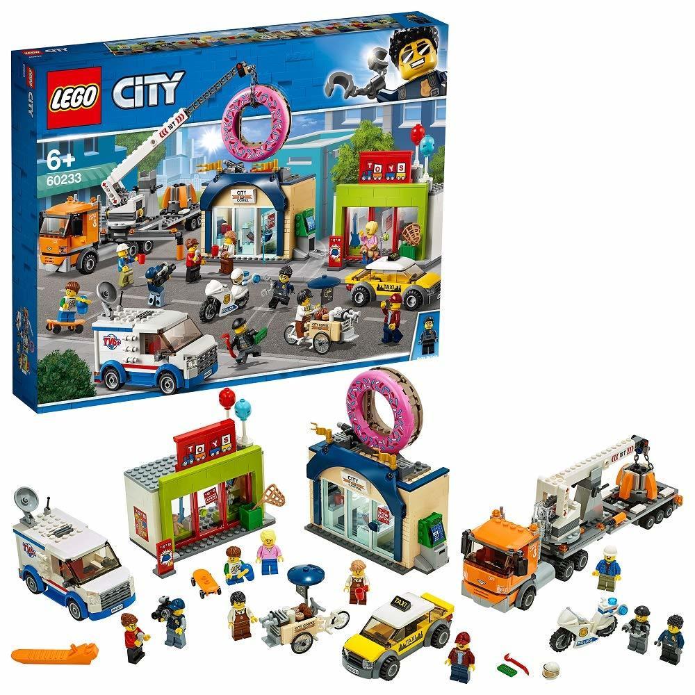 レゴ(LEGO) シティ 巨大クレーン車が活躍! ドーナツショップの開店 60233 ブロック おもちゃ
