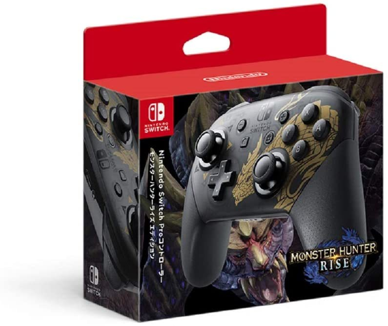特別なデザインのNintendo 1着でも送料無料 Switch Proコントローラーです 倉 モンスターハンターライズエディション Proコントローラー Nintendo