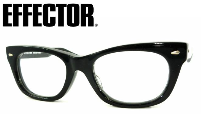 EFFECTOR(エフェクター)distortion (ディストーション))C-BK【眼鏡 メガネ おしゃれメガネ 伊達メガネ 伊達眼鏡 黒縁 メガネ フレーム フルリム セルフレーム ブラック おしゃれ お洒落 かっこいい 誕生日 プレゼント 日本製 ハンドメイド 職人】