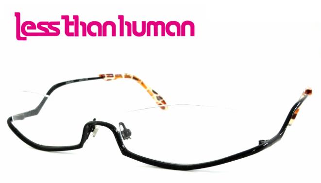 lessthan human(レスザンヒューマン) po6po10 C-195K ナイロールフレーム アンダーリム ブラックチタン 細め