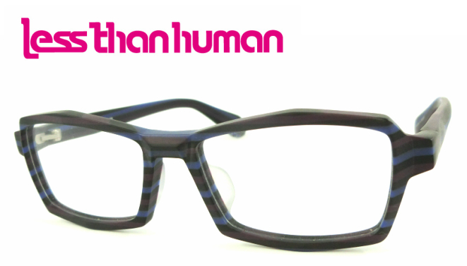lessthan human(レスザンヒューマン)行雲流水 C-8080 フルリム アセテート ブルー パープル【 眼鏡 メガネ おしゃれメガネ 伊達メガネ 伊達眼鏡 おしゃれ お洒落 かっこいい 誕生日プレゼント プレゼント】