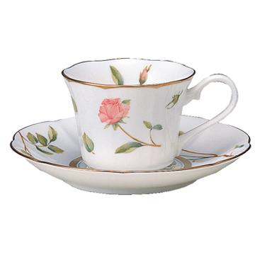 【NARUMI(ナルミ)】  ロージーレーンコーヒー碗皿(6客)引き出物/内祝い/結婚祝い/誕生日祝い/出産祝い/記念品プレミアム・アート・ボンチャイナ 50494-20876 一客   ブランド通販 05P03Sep16