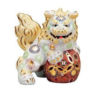 【九谷焼】 6.5号立獅子(左) 白盛