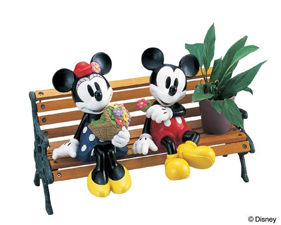 (ミッキーマウス) フラワーショップミニーベンチプンタースタンド(室内用)【ディズニー】 (※注意※造花、鉢は商品に含まれておりません)