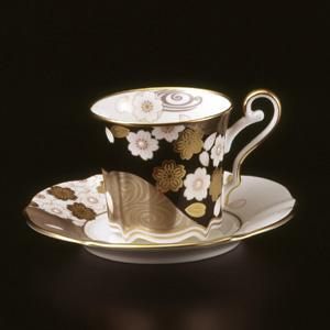 【ノリタケ】 あやみなも 夜桜金銀彩コーヒー碗皿05P03Sep16