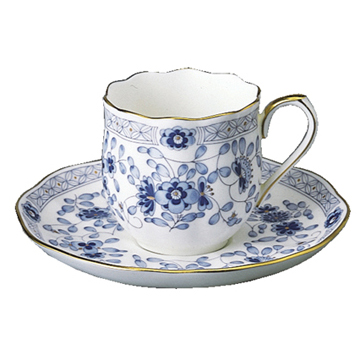【NARUMI(ナルミ)】 ミラノ A.D.コーヒー碗皿(6客) 引き出物/内祝い/結婚祝い/誕生日祝い/出産祝い/記念品プレミアム・アート・ボンチャイナ  陶器ブランド通販