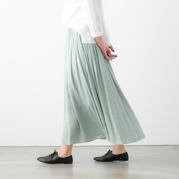 DONEEYU ドニーユ クチュール ビンテージ プリーツ ロング スカート 4色 U-2750