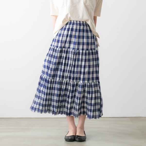 ROCK MOUNT ロックマウント ギンガム チェック ティアード スカート 2色 sp9999 gingham