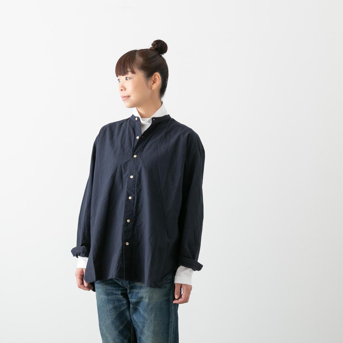 (メール便OK)【クーポン対象外】ARMEN アーメン バンドカラー シャツ 5色 INAM1702PD