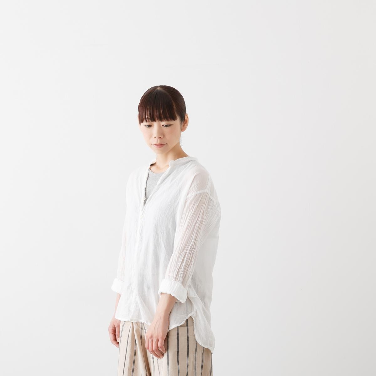 【クーポン対象外】ARMEN アーメン UTILTY BANDED COLLAR SHIRTS ユーティリティ バンドカラー シャツ 3色 INAM1702GD