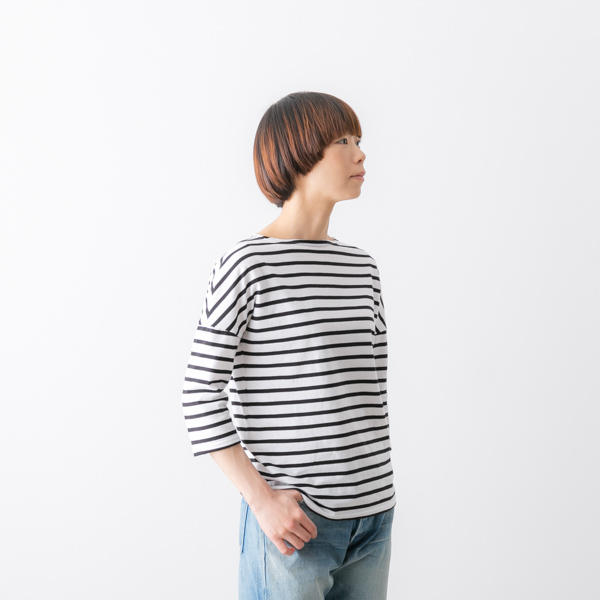 () SAINT JAMES cent James thin dropped shoulder sleeve horizontal stripe  five minutes sleeve cut-and-sew four colors 16JCSLOUCH 20003