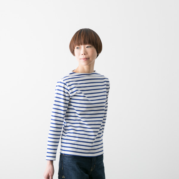 () SAINT JAMES cent James OUESSANT ウエッソンボーダー long sleeves WHT constant  seller boat neck cut-and-sew OUESSANT RA