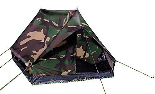 Mil-Tec テント A型 2人用 MINI PACK Super 防水性能強化仕様 - WOODLAND Camo迷彩