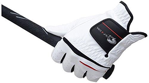 LEZAX レザックス Golf 情熱セール U.S.A. デジタルエンボス合皮グローブ 左手用 21-22cm ホワイト 初回限定 GUGL-5651 S WH-S