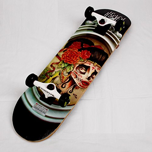 【FASTAM】高品質スケートボード/31インチ テールキック メープルデッキ 【ABEC-9ベアリング採用】 (603-11)