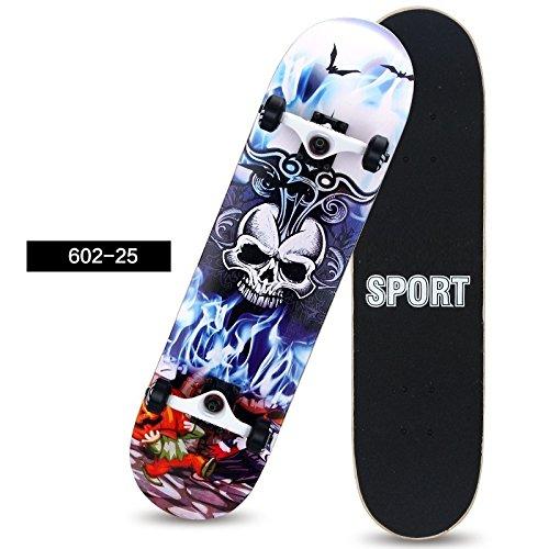 [FASTAM]個性を主張する、高品質のスケートボード/31インチ テールキック メープルデッキ 【ABEC-9ベアリング採用】 (602-25)