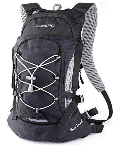 【LEOSPO】軽量・コンパクト サイクリングバッグ 【IncaTure12】 ロードバイク 自転車 登山 などに(BLACK)