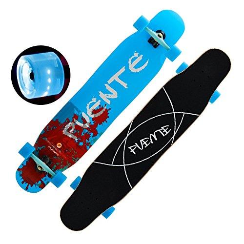 [FASTAM] 46インチ高品質スケートボード/ テールキック/メープルデッキDaincing Freestyle Cruising Free ridenaなどに適用【ABEC-11ベアリング採用】 (WD-16)
